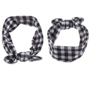 Gingham Top Knot Headband